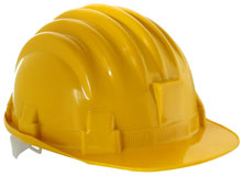 yellow construction workers hat